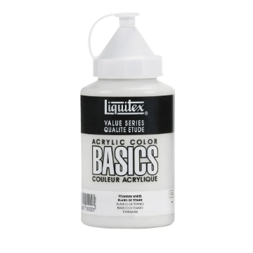 Picture of Liquitex Basics Acrylic Titanium White 400ml (432)
