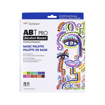 Picture of Tombow ABT Pro Alcohol Based Markers Set of 12- Basic